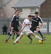 Dundee&rsquo;s Darren O&rsquo;Dea tackles Dumbarton&rsquo;s Kevin Cawley - Dumbarton v Dundee, William Hill Scottish Cup fifth round at The Cheaper Insurance Direct Stadium <br /> <br />  - &copy; David Young - www.davidyoungphoto.co.uk - email: davidyoungphoto@gmail.com