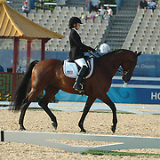 American rider Rebecca Hart and Norteassa competing in the grade II individual championship for an eventual twelth despite two judges having them in the top five. Paralympic Games Hong Kong