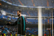 Real Madrid's Spanish defender Nacho Fernandez warms up before the Spanish championship Liga football match between Real Madrid and Villarreal on January 13, 2018 at Santiago Bernabeu stadium in Madrid, Spain - Photo Benjamin Cremel / ProSportsImages / DPPI