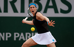 May 30, 2019 - Paris, FRANCE - Andrea Petkovic of Germany in action during her second-round match at the 2019 Roland Garros Grand Slam tennis tournament (Credit Image: © AFP7 via ZUMA Wire)