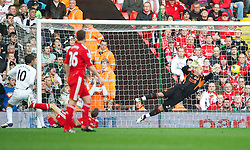 05.11.2011, Anfield Stadion, Liverpool, ENG, Premier League, FC Liverpool vs Swansea City, im Bild Liverpool's goalkeeper Jose Reina makes a save against Swansea City  // during the premier league match between FC Liverpool vs Swansea City at Anfield Stadium, Liverpool, EnG on 05/11/2011. EXPA Pictures © 2011, PhotoCredit: EXPA/ Propaganda Photo/ David Rawcliff +++++ ATTENTION - OUT OF ENGLAND/GBR+++++