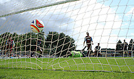 Picture by David Horn/Focus Images Ltd. 07545 970036.04/08/12.Arsenal score early on against Chesham United in a friendly match at The Meadow, Chesham.