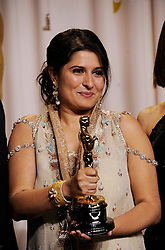 Winners of Best Documentary Short Award for 'Saving Face', Sharmeen Obaid-Chinoy in  the press room at the 84th Annual Academy Awards (Oscars) held at  the Kodak Theater in Hollywood, California on Sunday February 26th, 2012.Photo by Jennifer Graylock/ i-Images