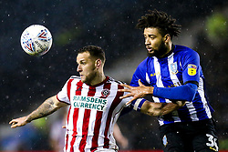 Billy Sharp of Sheffield United takes on Michael Hector of Sheffield Wednesday - Mandatory by-line: Robbie Stephenson/JMP - 04/03/2019 - FOOTBALL - Hillsborough - Sheffield, England - Sheffield Wednesday v Sheffield United - Sky Bet Championship