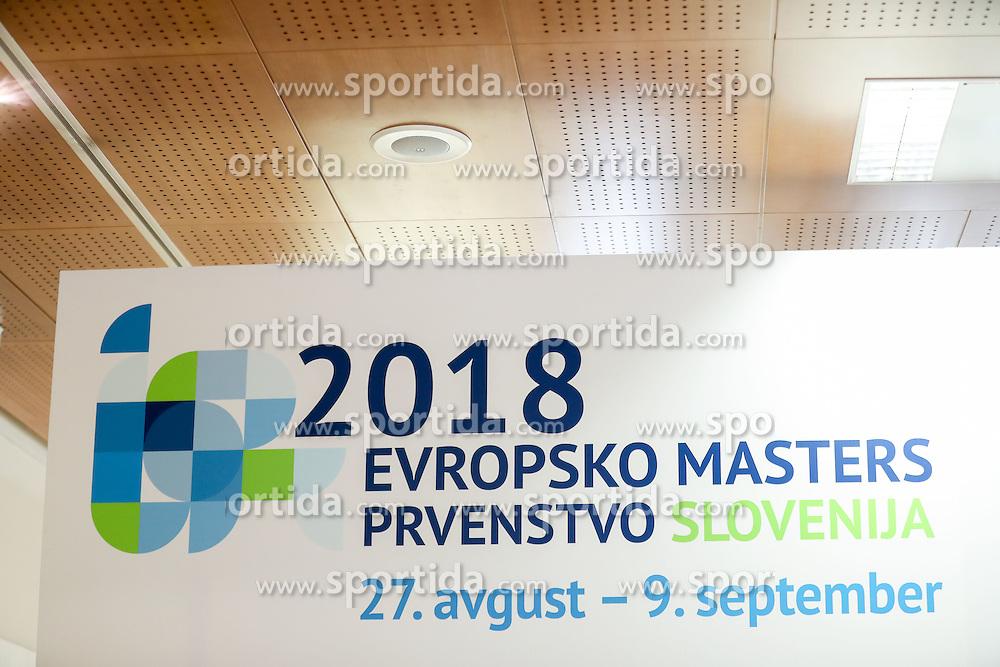 Press conference of LEN European Masters Championships 2018, on April 4, 2016 in Kranj, Slovenia. Photo by Vid Ponikvar / Sportida
