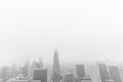 May 3, 2019 - New York, New York, United States - View of New York midtown in foggy day from Top of the Rock observatory deck (Credit Image: © Lev Radin/Pacific Press via ZUMA Wire)