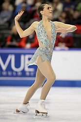 London, Ontario ---10-01-15--- Cynthia Phaneuf competes in the women's short program at the 2010 BMO Canadian Figure Skating Championships in London, Ontario, January 15, 2010. .GEOFF ROBINS/Mundo Sport Images..