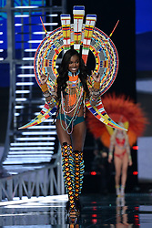 Leomie Anderson on the catwalk for the Victoria's Secret Fashion Show at the Mercedes-Benz Arena in Shanghai, China.