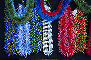 Feather leis, May Day, Kapiolani Park, Waikiki, Oahu, Hawaii