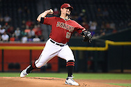 PHOENIX, AZ - AUGUST 03:  Zack Godley #52 of the Arizona Diamondbacks delivers a pitch against the Washington Nationals during the first inning at Chase Field on August 3, 2016 in Phoenix, Arizona. The Nationals beat the Diamondbacks 8 to 3.  (Photo by Jennifer Stewart/Getty Images)