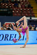 "Zlata Dziatlav during the ""1st Trofeo Citta di Monza"" tournament. On this occasion we have seen the rhythmic gymnastics teams of Belarus and Italy challenge each other. The Bilateral period was only June 9, 2019 at the Candy Arena in Monza, Italy."