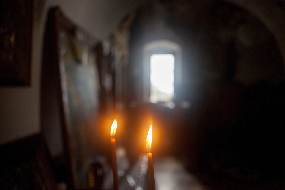 Small chapel at the little mountain village of Anidri which is close to Palaiochora. The two candles were lit in memory to my friend Zachary Jordanov (Hary) who passed away on that day one year ago.