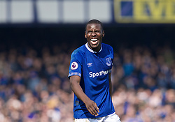 LIVERPOOL, ENGLAND - Sunday, April 7, 2019: Everton's Kurt Zouma is all smiles after the FA Premier League match between Everton FC and Arsenal FC at Goodison Park. Everton won 1-0. (Pic by David Rawcliffe/Propaganda)