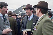 ARTHUR VESTEY; WILLIAM VESTEY; JOHNNIE BARNETT, The Cheltenham Festival Ladies Day. Cheltenham Spa. 11 March 2015
