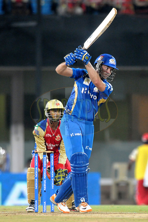 James Franklin of Mumbai Indians bats during the Final of the NOKIA Champions League T20 ( CLT20 ) between The Royal Challengers Bangalore and The Mumbai Indians held at the M. A. Chidambaram Stadium in Chennai , Tamil Nadu, India on the 9th October 2011..Photo by Pal Pillai/BCCI/SPORTZPICS