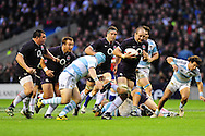 London - Saturday, November 14th 2009: Steve Borthwick of England breaks the Argentinean lines during the Investec Challenge Series Game at Twickenham, London. ..(Pic by Alex Broadway/Focus Images)