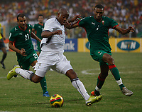 Photo: Steve Bond/Richard Lane Photography.<br /> Ghana v Morocco. Africa Cup of Nations. 28/01/2008. Junior Agogo (C) on the attack