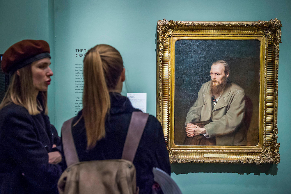 Fedor Dostoevsky by Vasily Perov, 1872 - Russia and the Arts: The Age of Tolstoy and Tchaikovsky - Part of a cultural exchange with the State Tretyakov Gallery in Moscow, a new exhibition marking the 160th anniversary of both galleries. Works include key figures from the 'golden age of the arts' in Russia, 1867-1914. Runs until June 26. Private view March 14. National Portrait Gallery, St Martin's Place, London.