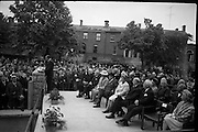 The new U.S. Embassy in Ballsbridge was officially opened by Congressman Wayne L. Hays of Ohio, pictured here giving his address..23.05.1964