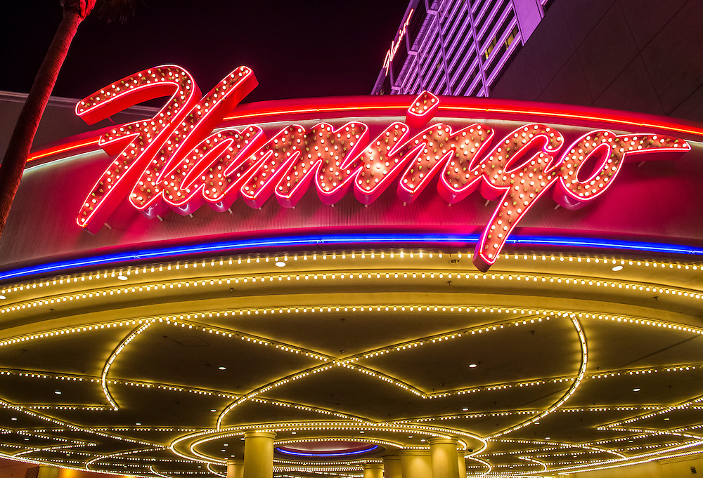 LAS VEGAS - NOV 24 : The Flamingo hotel and casino on November 24 , 2016 in Las Vegas. The hotel opened by Bugsy Segal on 1946 and it's the oldest resort on the Strip still in operation