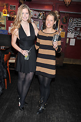 Left to right, KATIE READMAN and DAVINA HARBORD at a party to celebrate the best of W&W Jewellery held at Barts, 87 Sloane Avenue, London on 26th November 2012.