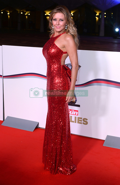 Carol Vorderman arriving at The Millies 2016, Guildhall, London. Picture Credit Should Read: Doug Peters/EMPICS Entertainment