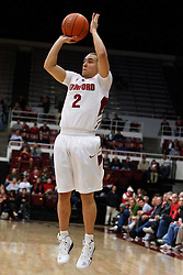 December 15, 2010; Stanford, CA, USA;  Stanford Cardinal guard Aaron Bright (2) shoots a three point shot against the North Carolina A&T Aggies during the first half at Maples Pavilion.