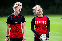 Jas Matthews and Ebony Salmon of Bristol City Women during training at Failand - Mandatory by-line: Robbie Stephenson/JMP - 26/09/2019 - FOOTBALL - Failand Training Ground - Bristol, England - Bristol City Women Training