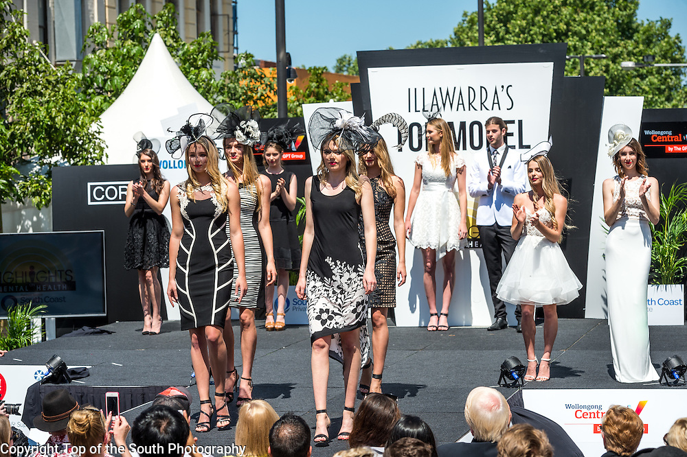 Illawarra's Top Model Finals &amp; Runway Fashion Show.<br /> Wollongong Mall, NSW, Australia.<br /> 10th October 2015<br /> Photo: Top of the South Photography