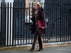 © Licensed to London News Pictures. 23/11/2016. London, UK. ANDREA LEADSOM arrives on Downing Street in London for a cabinet meeting before Chancellor Philip Hammond delivers his first Autumn statement to parliament. Photo credit: Ben Cawthra/LNP