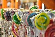 Lollipops in a candy store. Photographed in Prague Czech Republic