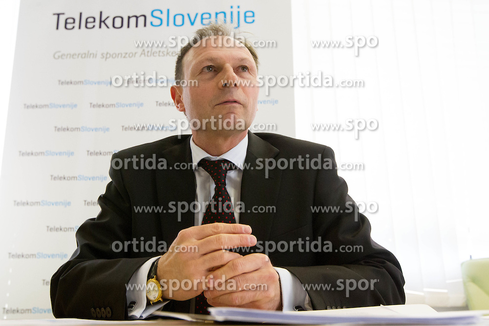 Boris Mikuz of AZS at press conference of Slovenian team before departure to Indoor Athletics World Championship in Istanbul, on March 7, 2012 in Ljubljana, Slovenia.  (Photo By Vid Ponikvar / Sportida.com)