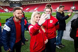 Meet the player with Matty Taylor and Jamie Paterson of Bristol City - Rogan/JMP - 27/01/2018 - Ashton Gate Stadium - Bristol, England - Bristol City v Queens Park Rangers - Sky Bet Championship.