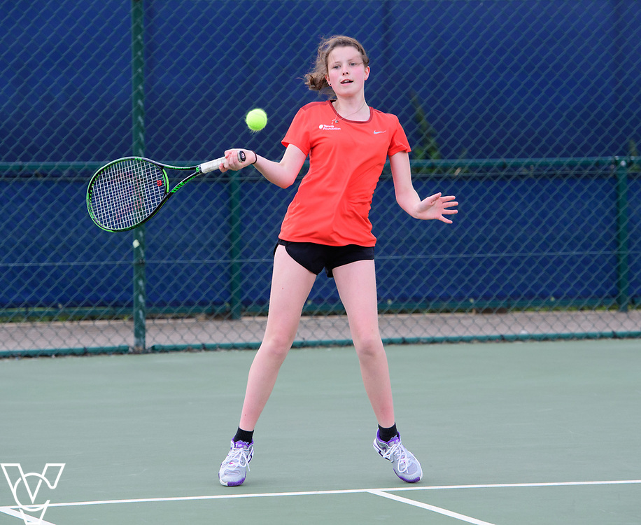 Aberdare Cup - Wilmslow High School - Alice Kraunsoe<br /> <br /> Team Tennis Schools National Championships Finals 2017 held at Nottingham Tennis Centre.  <br /> <br /> Picture: Chris Vaughan Photography for the LTA<br /> Date: July 14, 2017