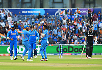 Cricket - 2019 ICC Cricket World Cup - Semi-Final: India vs. New Zealand<br /> <br /> India's Yuzvendra Chahal celebrates taking the wicket of New Zealand's Kane Williamson caught by Ravindra Jadeja for 67, at Old Trafford, Manchester.<br /> <br /> COLORSPORT/ASHLEY WESTERN