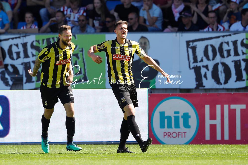 *Matt Miazga* of Vitesse celebrates 1-1 with *Tim Matavz* of Vitesse