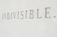 The word Indivisible engraved on wall Washington DC USA&#xA;<br />
