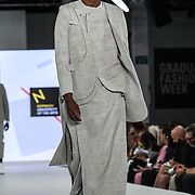 Designer Bryan Wan at the Best of Graduate Fashion Week showcases at the Graduate Fashion Week 2018, June 6 2018 at Truman Brewery, London, UK.