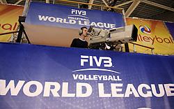 08-06-2014 NED: WLV Nederland - Portugal, Almere<br /> Camera volgt de wedstrijd voor de live streaming, media pers, TV