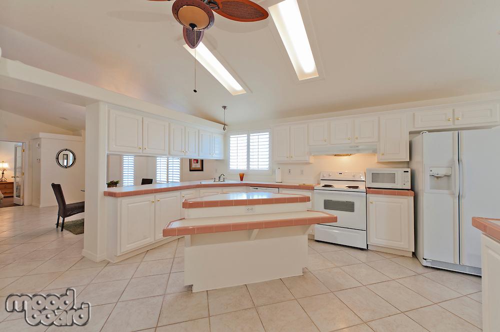 Contemporary kitchen interior in luxurious mansion