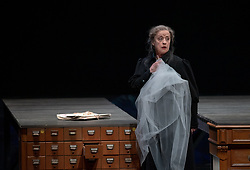 11.04.2019, Große Universitätsaula, Salzburg, AUT, Salzburger Osterfestspiele, Fotoprobe, Kammeroper Therese (Oper von Emile Zola), im Bild Renate Behle als Mme Raquin // during the rehearsal of the Chamber opera Therese (opera by Emile Zola). The Salzburg Easter Festival takes place from 13 April to 23 April  2019, at the Große Universitätsaula in Salzburg, Austria on 2019/04/11. EXPA Pictures © 2019, PhotoCredit: EXPA/ Ernst Wukits