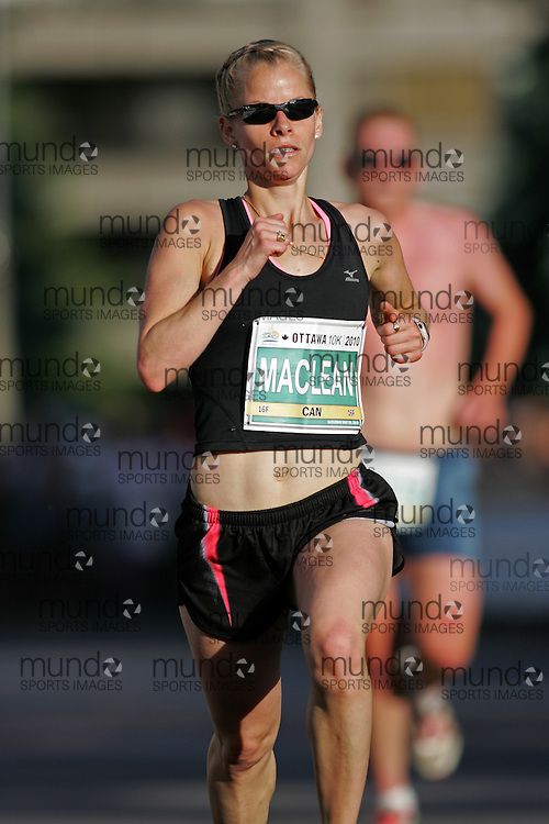 (Ottawa, ON --- May 29, 2010) ERIN MACLEAN running in the 10km race during the Ottawa Race Weekend. Photograph copyright Sean Burges / Mundo Sport Images