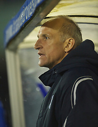 BIRKENHEAD, ENGLAND - Thursday, March 25, 2010: Wigan Athletic's reserve team coach Dave Watson during the FA Premiership Reserves League (Northern Division) match at Prenton Park. (Photo by David Rawcliffe/Propaganda)