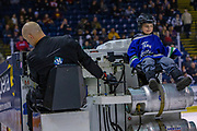 KELOWNA, CANADA - JANUARY 19: Orchard Park Zamboni Rider at the Kelowna Rockets game on January 19, 2019 at Prospera Place in Kelowna, British Columbia, Canada. (Photo By Cindy Rogers/Nyasa Photography, *** Local Caption ***
