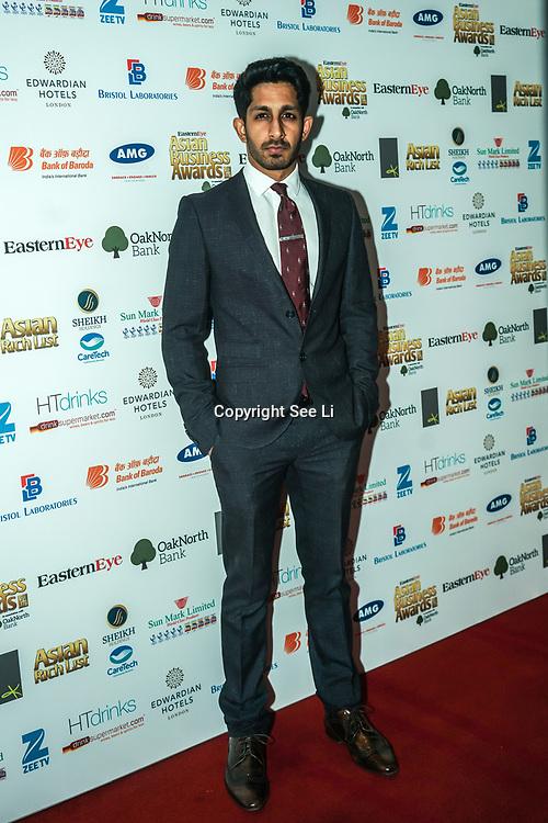 Actor Sagar Radia attands the 2017 Asian Business Awards,London,UK. by See Li