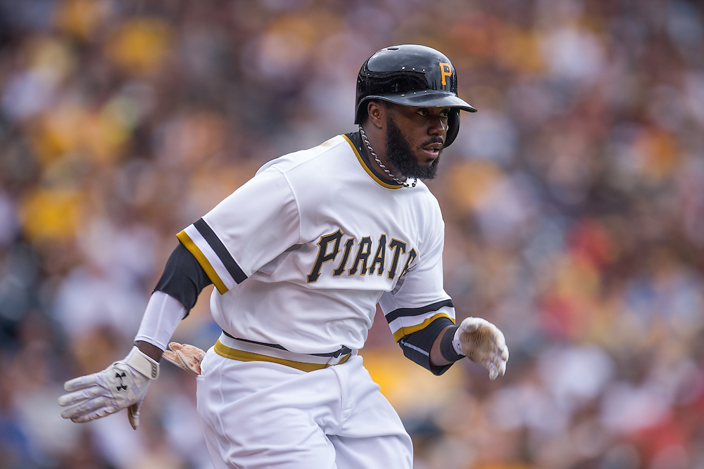 PITTSBURGH, PA - JUNE 08: Josh Harrison #5 of the Pittsburgh Pirates runs the bases during the game against the Milwaukee Brewers at PNC Park on June 8, 2014 in Pittsburgh, Pennsylvania. (Photo by Rob Tringali) *** Local Caption *** Josh Harrison