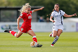 Charlie Estcourt of Bristol City Women in action - Mandatory byline: Rogan Thomson/JMP - 09/07/2016 - FOOTBALL - Stoke Gifford Stadium - Bristol, England - Bristol City Women v Milwall Lionesses - FA Women's Super League 2.