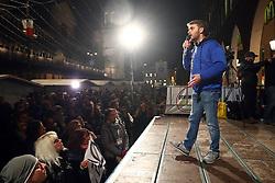 VITTORIO FERRARESI<br /> COMIZIO MOVIMENTO 5 STELLE PIAZZA TRENTO TRIESTE