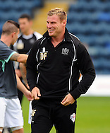 Manager of Bury David Flitcroft during the Sky Bet League 2 match at Adams Park, High Wycombe<br /> Picture by Seb Daly/Focus Images Ltd +447738 614630<br /> 06/09/2014
