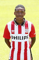 Steven Bergwijn during the team presentation of PSV Eindhoven on July 6, 2015 at the Herdgang in Eindhoven, The Netherlands.